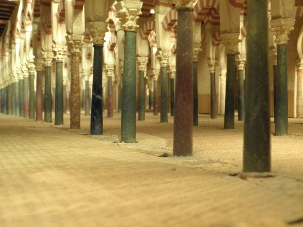A picture of the inside of the model - what the old mosque would have been like