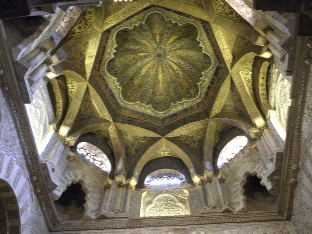 The top of the mihrab